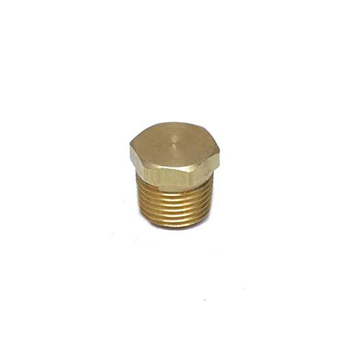 """FasParts 1/2"""" Male NPT MPT MIP Hollow Hex Head Brass Pipe Plug Fitting Fuel/Air/Water/Boat/Gas/Oil WOG"""