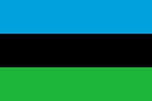 magFlags Large Flag Zanzibar January-April 1964 | Independent People Republic of Zanzibar in use Between 12 January and 26 April 1964 | Landscape Flag | 1.35m² | 14.5sqft | 90x150cm - Zanzibar Decor