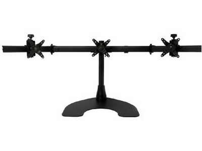 Ergotech Triple LCD Monitor Desk Mount Stand with Telescopic Wings/3 Screens up to 27""