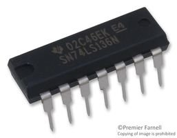 IC, LOGIC, 74LS, XOR GATE SN74LS136N By TEXAS INSTRUMENTS SN74LS136N-TEXAS INSTRUMENTS