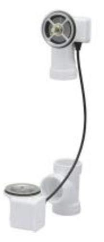 Geberit 151.506.00.1 TurnControl 17'' - 24'' PVC Plastic Tub Waste with 27'' Cable - less Trim Kit