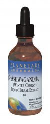 Planetary Herbals Ashwaganda Herbal Extract Liquid, Lemon, 1 Fluid Ounce