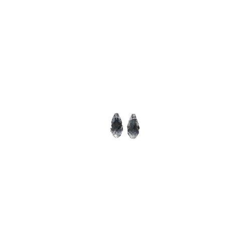 Swarovski 6010 Briolette Drop Beads, Transparent, Crystal, 5.5 by 11mm, 2 Per Pack