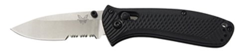 k Small Manual Folding Mini-Presidio Ultra Knife ComboEdge / Satin Blade by Benchmade (Comboedge Folding Blade)