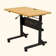 Flipper Training Table, Rectangular, 36w x 24d x 29-1/2h, Teak ()