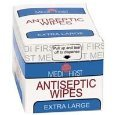 Antiseptic Wipes Cleans Wounds Without Stinging Individually Wrapped 100 Ct Bag