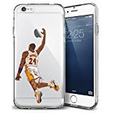 iPhone 6/6s Case, Elite_Cases Ultra Slim [Crystal Clear] [NBA Player] Soft TPU Case Cover for Apple iPhone 6/6s (4.7) & Custom Elite Cases Microfiber Pouch - THE MAMBA