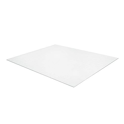 Realspace Medium-Pile Chair Mat with Beveled Edge, 45 x 53 , Clear