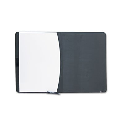 Tack & Write Board, 35 x 23 1/2, Black/White Surface, Black Frame, Sold as 1 Each (Lightweight Combination Write Board)