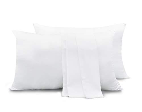 Zenssia Silky Satin Pillowcase 2 Packs for Hair and Skin, Zipper Closure, King Size 20