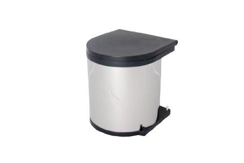Wesco 10114-42 Poubelle ronde à encastrer en acier inoxydable 11 l