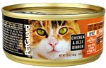 PetGuard Canned Cat Food Chicken and Beef Dinner -- 5.5 oz(pack of 4)