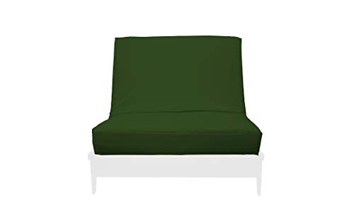 Premium Futon Cover w/Zipper - Premium Solid Collection - Solid Hunter Green - Handmade in USA - Chair Size (28