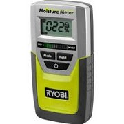 Ryobi E49MM01 Digital LED Pinless Moisture Meter for Softwood, Drywall, and Masonry (9 Volt Battery Included)