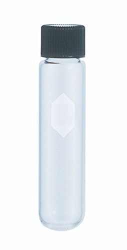Kimble 45212-50 Glass Conical Bottom 50mL Heavy-Duty Centrifuge Tube with Screw Cap, Clear (Case of 12) Conical Bottom Glass Centrifuge Tubes