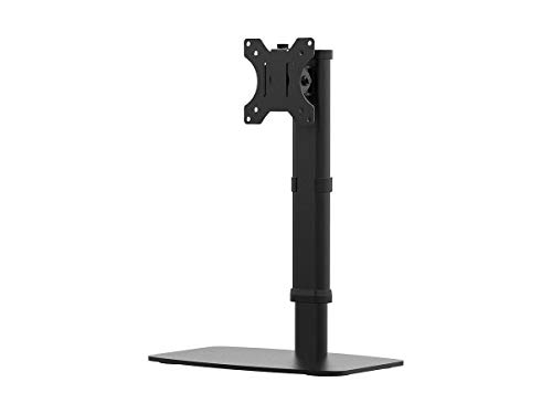 Monoprice Free Standing Single Monitor Desk Mount for Monitors Up to 27 Inches | Easy Height-Adjustable - Workstream Collection ()