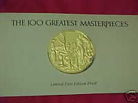FRANKLIN MINT 100 GREATEST MASTERPIECES #25 SEURAT