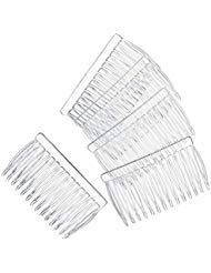 Bulk Buy: Darice DIY Crafts Hair Combs Clear Plastic 42 x 70 144 pieces Made in the USA 144 pieces (1-Pack) 10078-8