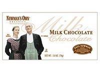 Newmans Own Organic Choc Bar Mlk Org