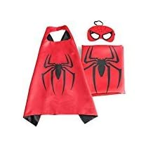 NEW Superhero PJ Masks Cape/Mask Set Gekko Owlette Catboy Kids Costume Party(spiderman)