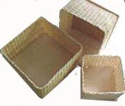 Nested Set of 3 Wicker Boxes Weaving Kit (Weaving Kits Wicker)