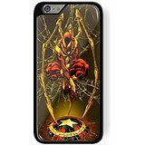 Iron spider captain america shield for iPhone 6 Plus/6s Plus Black case
