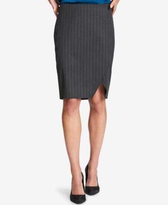 - DKNY Womens Professional Knee-Length Pencil Skirt Gray 4