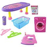 AJ Toys & Games Battery Operated Iron, Ironing Board and Washer/Dryer. The Washer/Dryer and The Iron Comes with Lights, Music and Featured Realistic Sounds! by AJ Toys & Games