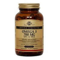 Solgar Double Strength Omega-3 700 mg Softgels, 120 S Gels 700 mg(Pack of 3)