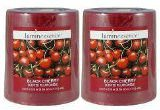 (Set of 2 Luminessence Black Cherry Scented Pillar Candles)
