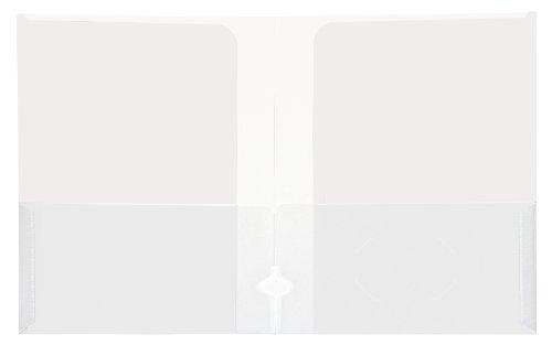 Lion 4-Pocket Plastic Presentation Folders, Clear, 10 EA/Pack, 1 Pack (91350-CR)