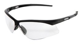 Radnor Premier Series Safety Glasses with Black Frame and Clear Polycarbonate Lens (48 ()