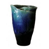SS-P6026-02 ブルーガラスひねり花器 17号 B005HHI92W