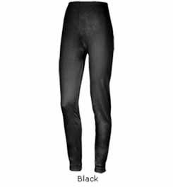 Terramar Women's Thermasilk Pointelle Pant (Black, X-Small)