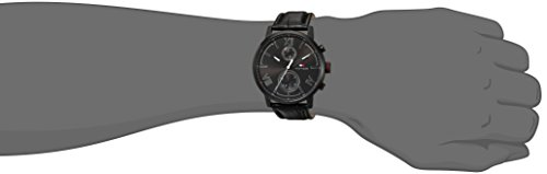Timex Men's T2P5209J Main Street Watch with Textured Leather Band