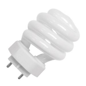 TCP 35014M CFL Mini SpringLamp - 60 Watt Equivalent (only 14w used!) Soft White (2700K) TXC 4-Pin Base Light Bulb ()
