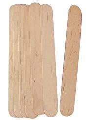300 pieces Rayson Wax Applicator Sticks Large Salon Waxing Hair Removal Wooden Spatulas Wax Applicator Wood Eyebrow
