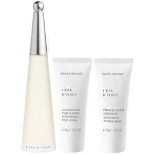 Issey Miyake L'eau D'issey for Women 3 Piece Gift Set with Spray, Body Lotion & Shower Cream