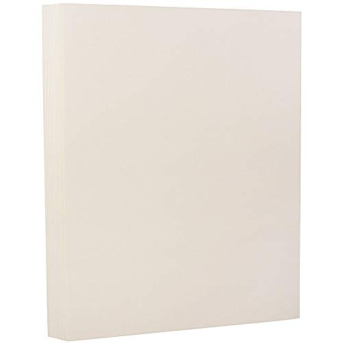 JAM PAPER Strathmore 24lb Paper - 8.5 x 11 - Natural White Wove - 100 Sheets/Pack