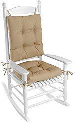Klear Vu Indoor/Outdoor Rocking Chair Pad Set Husk Birch