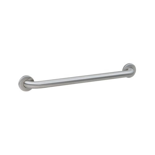 Bobrick B-5806x24 Concealed Mounting Grab Bar with Snap Flange, Satin