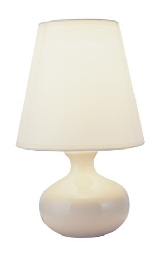 "S.H. International Ceramic Table Lamp 12""H - Ivory"