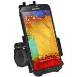 Amzer Bicycle Bike Handlebar Holder Mount for Samsung Galaxy Note 3 N9000 (Fits All Carriers) - Retail Packaging - Black