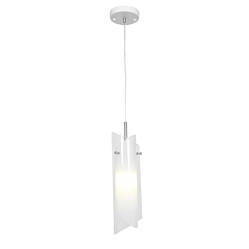 Access Lighting 52062-BS/CLOP Gyro One Light Pendant with Clear Opal Glass Shade, Brushed Steel Finish Bs Opal Ceiling Lighting