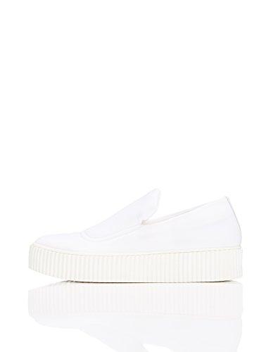 White in Neoprene FIND Bianco Scarpa Slip on Donna xtwwna60q