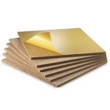 WIDGETCO 1/2 inch Self-Adhesive Cork Wall Tile Squares (6 pack) by WIDGETCO