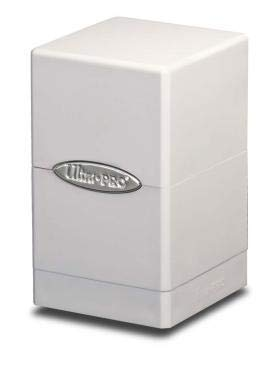 Ultra Pro White Satin Tower Deck Boxes by Ultra Pro