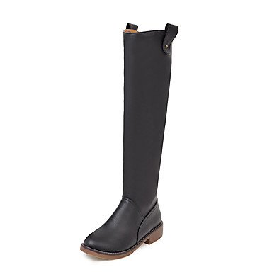 5 Fashion Shoes Toe CN40 Round Winter Dress Boots For RTRY EU39 Women'S Boots Boots US8 Slouch Boots UK6 Casual High Heel 5 Leatherette Red Low Riding Boots Knee Ygg6q5n