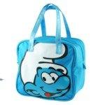 Cute Cartoon Style Canvas Kids Children HandBag School Bag-The Smurfs