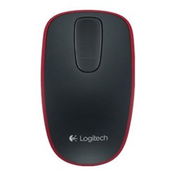 Logitech Zone Touch Mouse T400 for Windows 8 Black-Red Trim